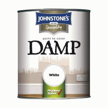 JOHNSTONES PROBLEM SOLVER PAINT TO COVER DAMP WHITE 750ML