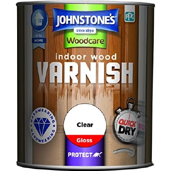 JOHNSTONES INDOOR WOOD VARNISH CLEAR GLOSS 250ML