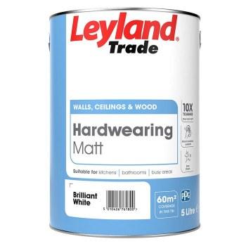 LEYLAND TRADE HARDWEARING MATT BRILLIANT WHITE 5L