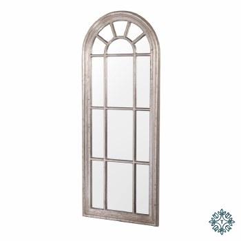 PALLADIAN WINDOW MIRROR LARGE CHAMPAGNE