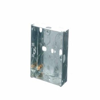 POWERMASTER 1 GANG 25 MM FLUSH METAL BOX