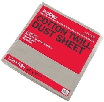 PRODEC 24FT X 3FT STAIRS COTTON TWILL DUST SHEET