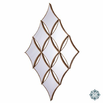 PENZANCE DIAMOND 9 MIRROR GOLD