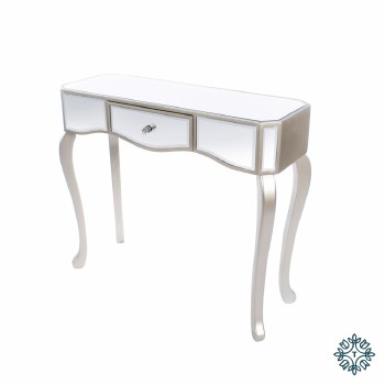 REFLECTIONS 1 DRAWER CONSOLE WITH CURVED LEGS
