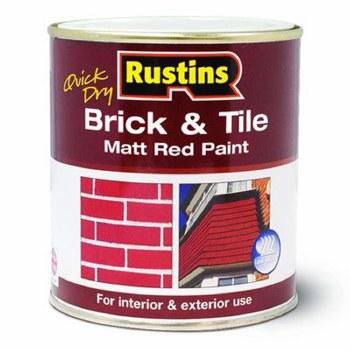 RUSTINS BRICK & TILE PAINT MATT RED 250ML