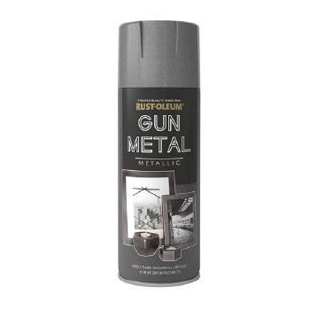 RUST-OLEUM ELEGANT GUN METAL GREY METALLIC 400ML