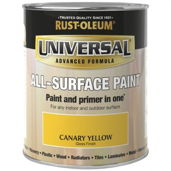 Rust-Oleum Gloss Finish Universal Metal and All-Surface Paint – CANARY YELLOW 250ML