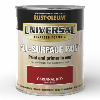 Rust-Oleum Gloss Finish Universal Metal and All-Surface Paint – CARDINAL RED 250ML