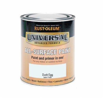 Rust-Oleum Gloss Finish Universal Metal and All-Surface Paint – DUCK EGG BLUE 750ML