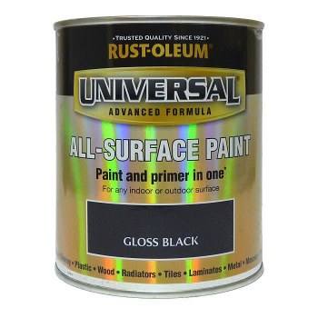 Rust-Oleum Gloss Finish Universal Metal and All-Surface Paint – GLOSS BLACK 250ML