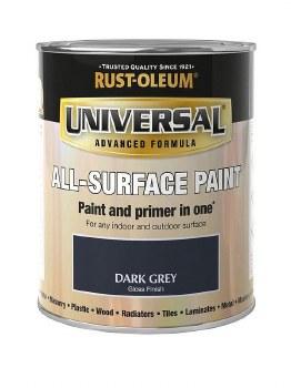 Rust-Oleum Gloss Finish Universal Metal and All-Surface Paint – DARK GREY 750ML