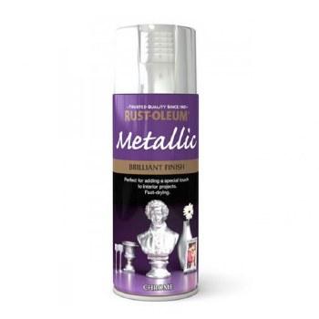 Rust-Oleum 400ml Metallic Spray Paint - Brilliant Chrome