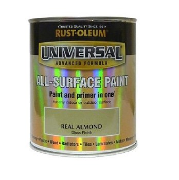 Rust-Oleum Gloss Finish Universal Metal and All-Surface Paint – REAL ALMOND 250ML