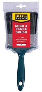 """FIT FOR THE JOB  4"""" SHED & FENCE BRUSH"""