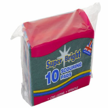 SUPERBRIGHT SCOURING PADS 10PACK