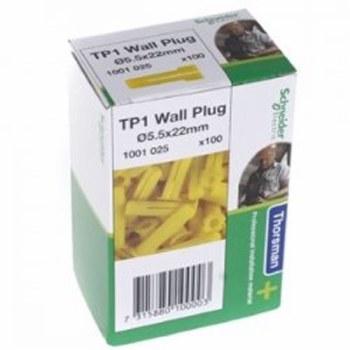 THORSMAN TP 1 YELLOW WALLPLUGS