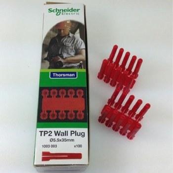 THORSMAN TP 2 RED WALLPLUGS