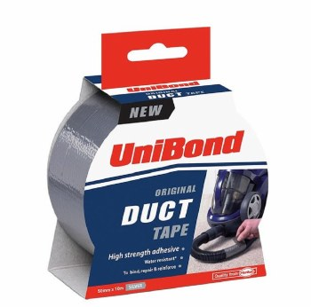 UNIBOND DUCT TAPE SILVER 50MM X 10 MTR