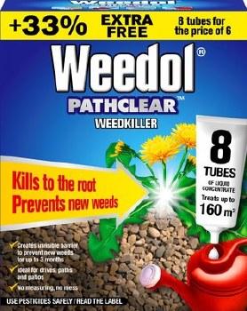 WEEDOL PATHCLEAR WEEDKILLER TUBES 6 TUBES PLUS 33% EXTRA FREE