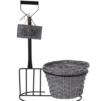 WELCOME POT WITH SPADE/FORK