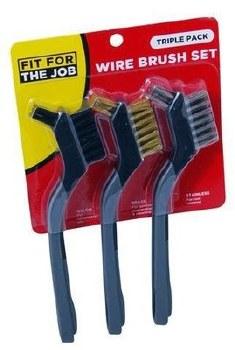 FIT FOR THE JOB 3 PACK MINI WIRE BRUSH SET - FSAT002