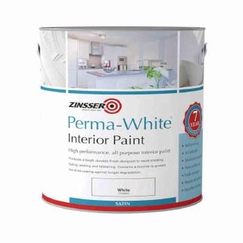 ZINSSER PERMA WHITE INTERIOR PAINT SATIN 1LT