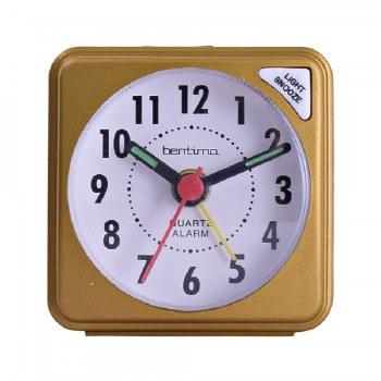 ACCTIM INGOT QUARTZ ALARM CLOCK GOLD