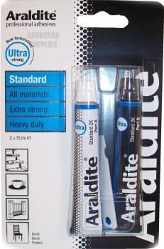 ARALDITE STANDARD TUBE ALL PURPOSE EPOXY GLUE BLUE 2X15ML