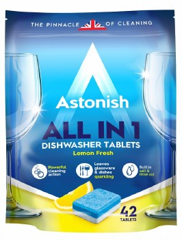 ASTONISH ALL IN 1 DISHWASHER TABLETS (42 PACK)