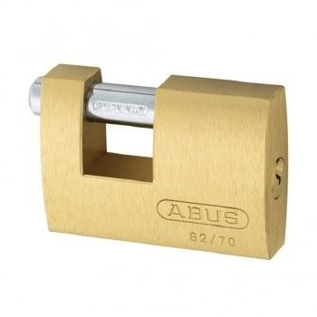 ABUS BRASS SHUTTER LOCK 82/70