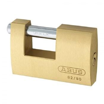 ABUS BRASS SHUTTER LOCK 82/90