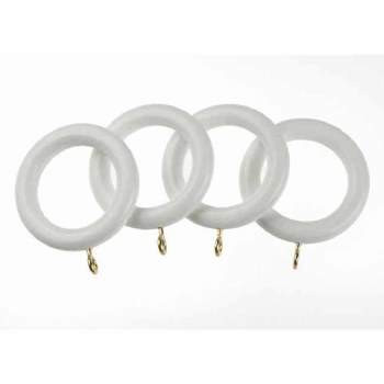DEVIELLE ESSENTIAL 28MM WHITE WOOD RINGS