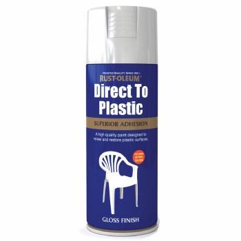 RUST-OLEUM DIRECT TO PLASTIC GLOSS WHITE SPRAY PAINT