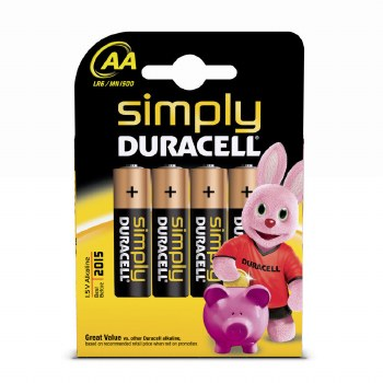 DURACELL SIMPLY BATTERY SIZE AA CARD 4