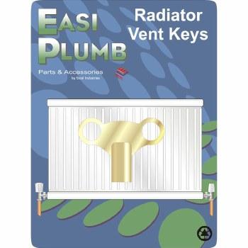 Easi Plumb Brass Clock Type Vent Key