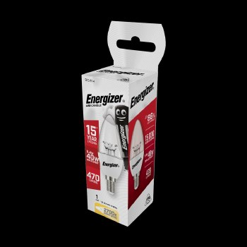 ENERGIZER ECO HALOGEN 20W (25W) B22 CLEAR CANDLE LAMP CARD 2