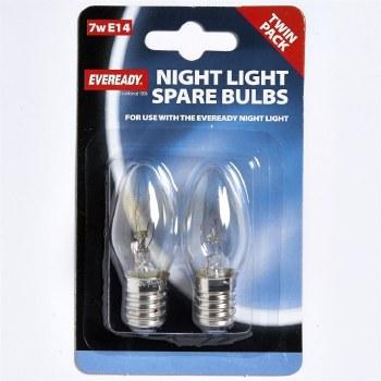 EVEREADY CLEAR NIGHT LIGHT BULB MES(E12) 7W