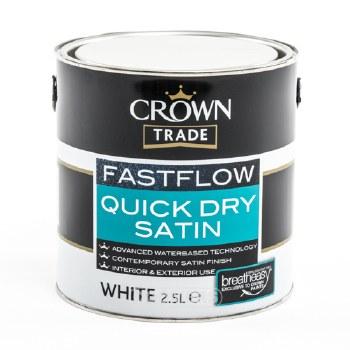 CROWNT FASTFLOW QD SATIN WHITE 1 LTR
