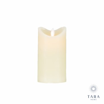 FLICKER LED CANDLE WITH 5HOUR TIMER IVORY 15CM
