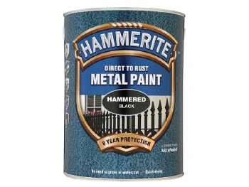 HAMMERITE DIRECT TO RUST METAL PAINT-  HAMMERED BLACK 1L