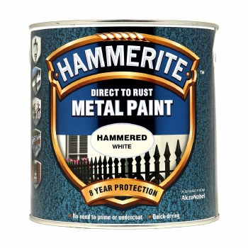 HAMMERITE DIRECT TO RUST METAL PAINT- HAMMERED WHITE 2.5L