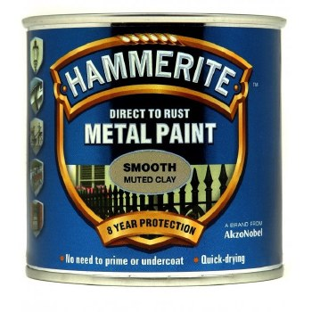 HAMMERITE DIRECT TO RUST METAL PAINT - SMOOTH MUTED CLAY 750ML