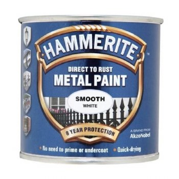 HAMMERITE DIRECT TO RUST METAL PAINT-  SMOOTH WHITE 2.5L