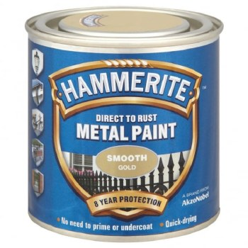 HAMMERITE DIRECT TO RUST METAL PAINT- SMOOTH GOLD 1L
