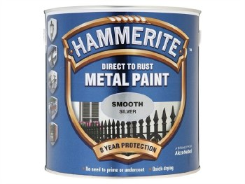 HAMMERITE DIRECT TO RUST METAL PAINT-  SMOOTH SILVER 1L