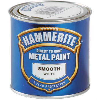 HAMMERITE DIRECT TO RUST METAL PAINT - SMOOTH WHITE 250ML