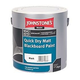 JOHNSTONE QUICK DRY MATT BLACKBOARD 2.5 LTR