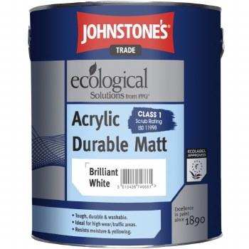 JOHNSTONE ACRYLIC MATT BRIL WHITE 2.50LTR
