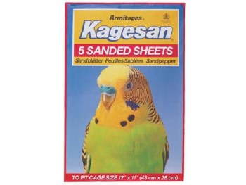KAGESAN NO 6 RED SANDED SHEETS  17x11