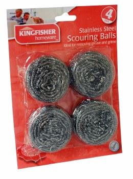 KSB100 KINGFISHER 4 PACK SCOURER BALL